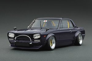 LB WORKS Hakosuka 2Dr Purple (ミニカー)