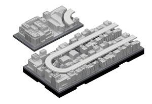 ジオクレイパー 拡張ユニット #004 高速道路セット (完成品)