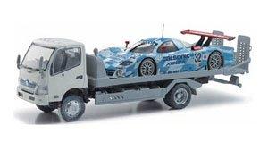 HINO KYOKUTO FLATOP ZERO II (ホワイト)+日産 R390 GT1 (ミニカー)