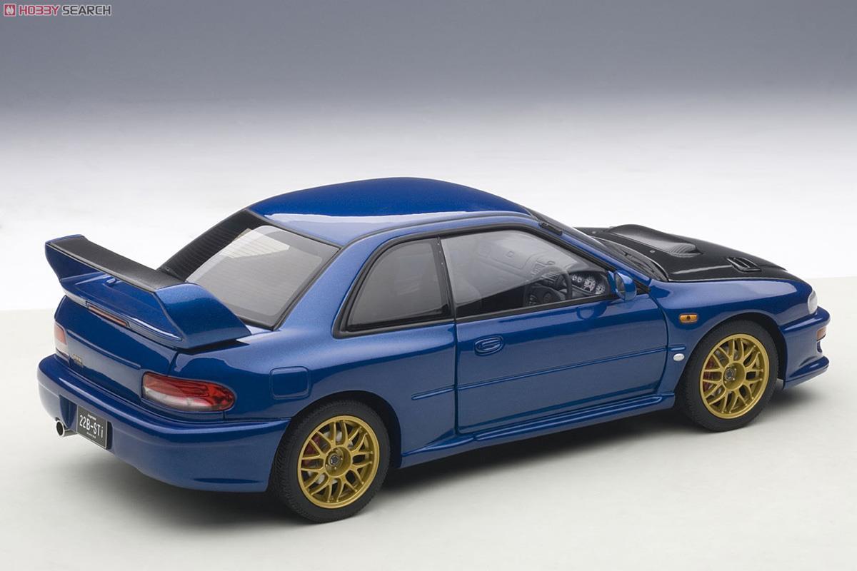 スバル インプレッサ 22B STi バージョン (ブルー/カーボンブラック・ボンネット) (ミニカー)