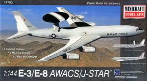 アメリカ空軍 E-3/E-8 AWACS/ジョイントスターズ (プラモデル)