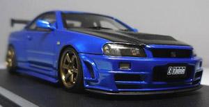 Nismo R34 GT-R Z-tune Bayside Blue (ミニカー)