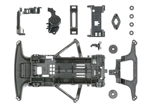 Carbon Reinforced Super FM Chassis Set (Mini 4WD)
