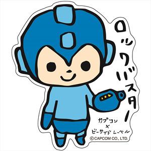 CAPCOM×B-SIDE LABEL ステッカー ロックマン 手描き (キャラクターグッズ)