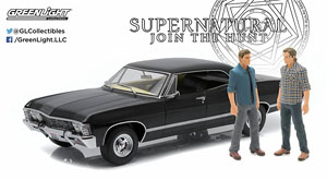 Supernatural (TV Series 2005) 1967 Chevrolet Impala Sport Sedan with Sam and Dean (ミニカー)