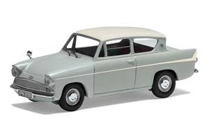 フォード アングリア 1200 スーパー プラチナグレー/アーマインホワイト (ミニカー)