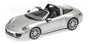 ポルシェ 911 タルガ 2013 シルバー (ミニカー)