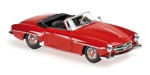 メルセデス ベンツ 190 SL (W121) 1955 ダークレッド (ミニカー)