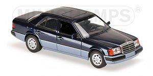 メルセデス ベンツ 230E 1991 ブルーメタリック (ミニカー)