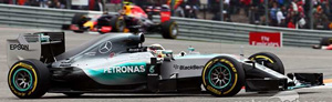 Mercedes W06 No.44 Winner USA GP 2015 World Champion (ミニカー)