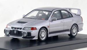 MITSUBISHI LANCER GSR EVOLUTION IV (1996) スティールシルバーメタリック (ミニカー)