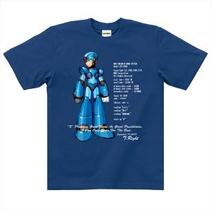ロックマンX Tシャツ エックス (青) S (キャラクターグッズ)