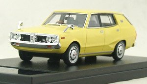 NISSAN SKYLINE 1800 WAGON SPORTY GL (1972) イエロー (ミニカー)