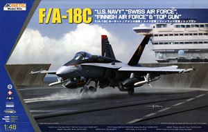 F/A-18C Hornet US Navy, Swiss Air Force, Finland Air Force & Topgun (Plastic model)