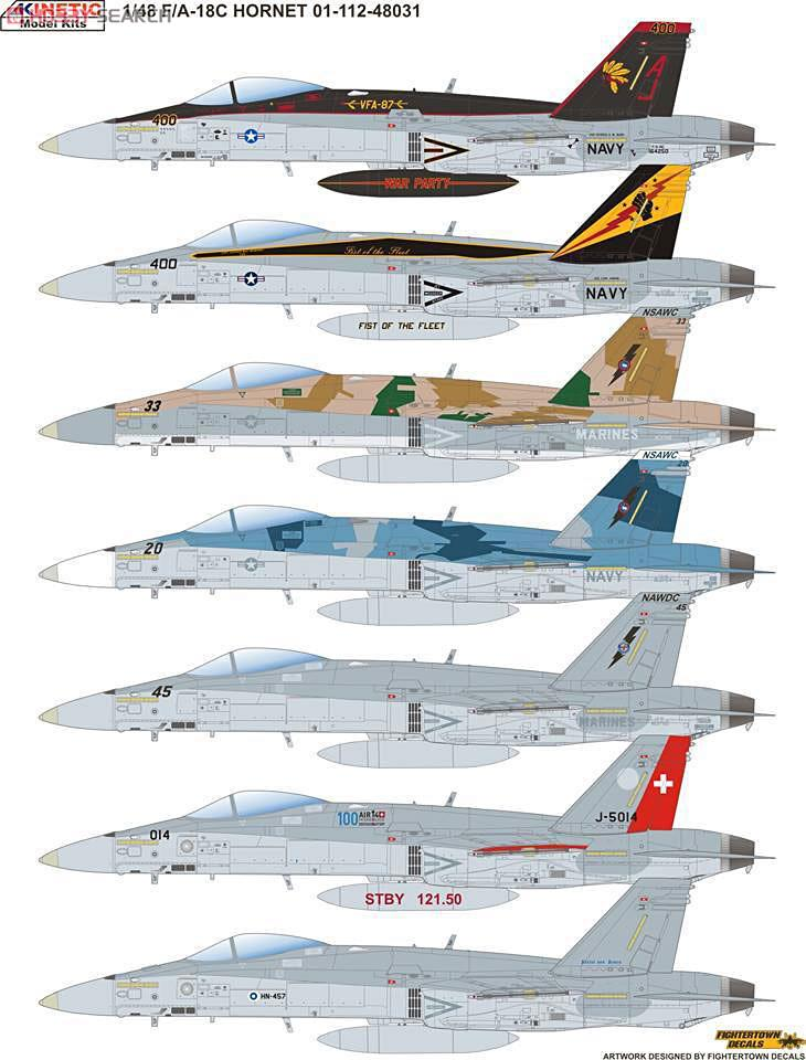 F/A-18C Hornet US Navy, Swiss Air Force, Finland Air Force & Topgun (Plastic model) Other picture2