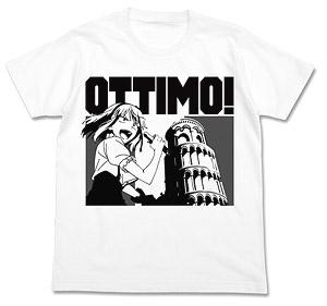 だがしかし オッティモTシャツ WHITE M (キャラクターグッズ)