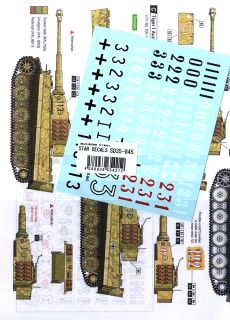Wwii German Tigers Of S Pz Abt 509 Part 1 Tigeri Mid Production Late Production Decal Hobbysearch Military Model Store