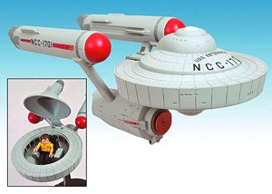 スタートレック TOS USS エンタープライズ NCC-1701 w/カーク船長 ミニメイツディフォルメ版 (完成品)