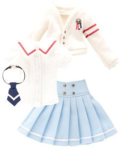 PNXS 女の子プレパラトリースクールセット (ホワイト×サックス) (ドール)
