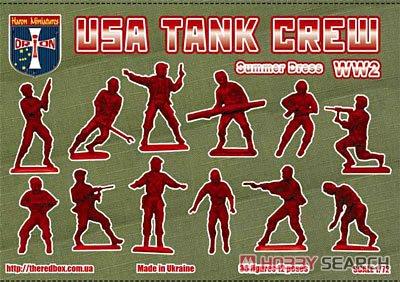 アメリカ戦車兵夏服WW2・12ポーズ36体 (プラモデル)