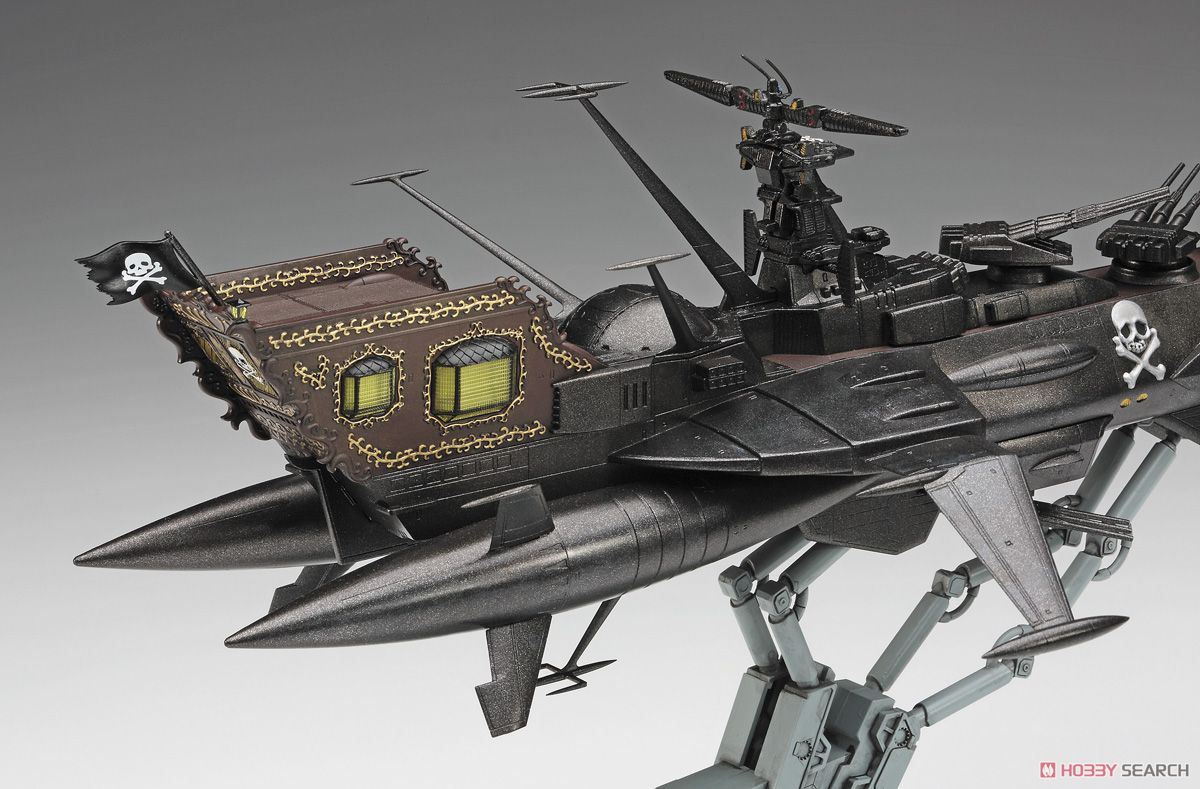 `Captain Harlock Space Pirate Dimension Voyage` Space Pirate Battle Ship Arcadia 3rd [Kai] Forced Attack Type (Plastic model) Images List