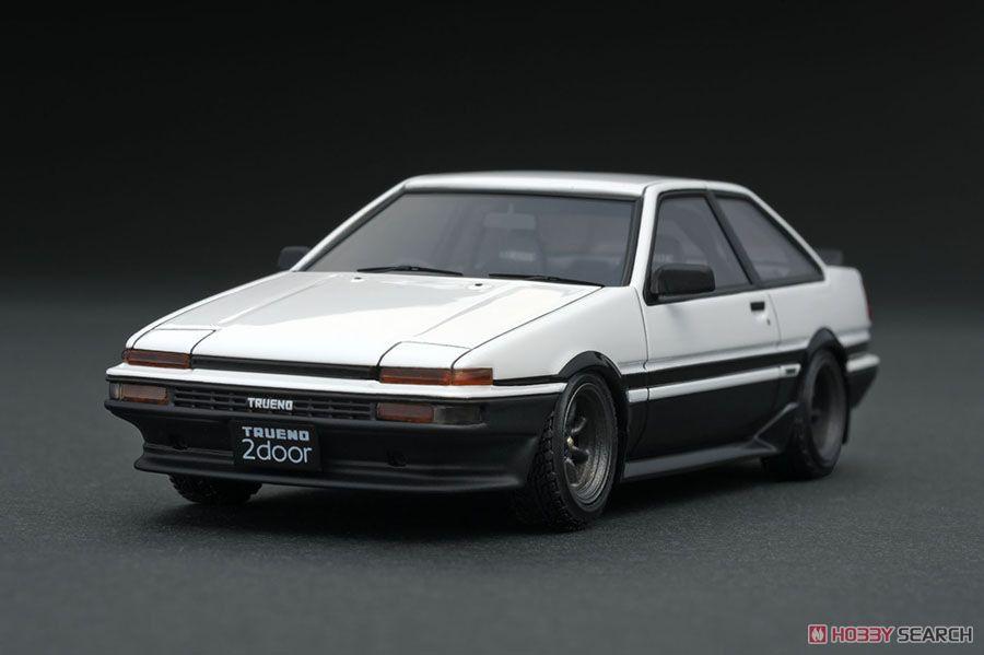 Toyota Sprinter Trueno 2Dr GT Apex (AE86) White/Black (ミニカー)