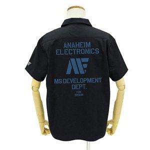 機動戦士Zガンダム アナハイム ロゴ ワッペンベースワークシャツ BLACK M (キャラクターグッズ)