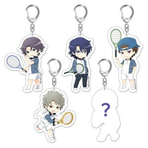 New The Prince Of Tennis Trading Acrylic Key Ring Hyotei Set 5