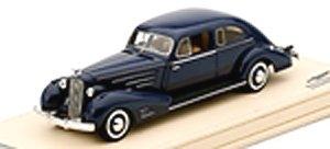 キャデラック V16 エアロダイナミック クーペ 1936 ブルー (ミニカー)