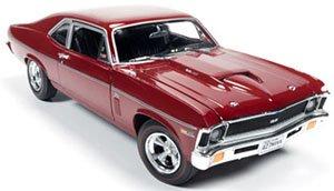 1969 Chevrolet Nova (Baldwin Motion) ガーネットレッド (ミニカー)