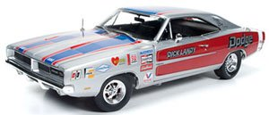 1969 Dodge Charger R/T (Dick Landy) シルバー (ミニカー)