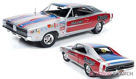 1969 Dodge Charger R/T (Dick Landy) シルバー (ミニカー)