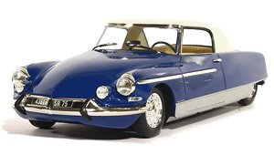 シトロエン DS21 シャプロン クーペ ル・ダンディ 1965 ヘッド&テールライト点灯 ブルー/ホワイト ルーフ (ミニカー)