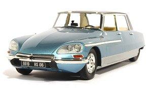 シトロエン DS21 シャプロン ロレーヌ 1969 ヘッド&テールライト点灯 ブルー メタリックバイカラー (ミニカー)