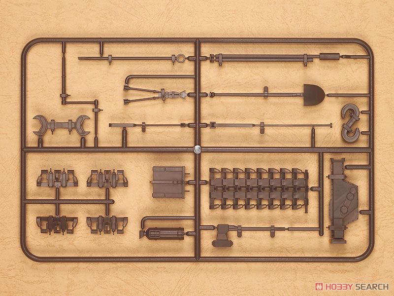 figma Vehicles IV号戦車 車外装備品セット (茶) (ガレージキット)