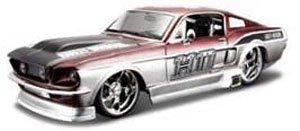 1967 フォード マスタング GT (メタリックレッド/メタリックグレー) (ミニカー)