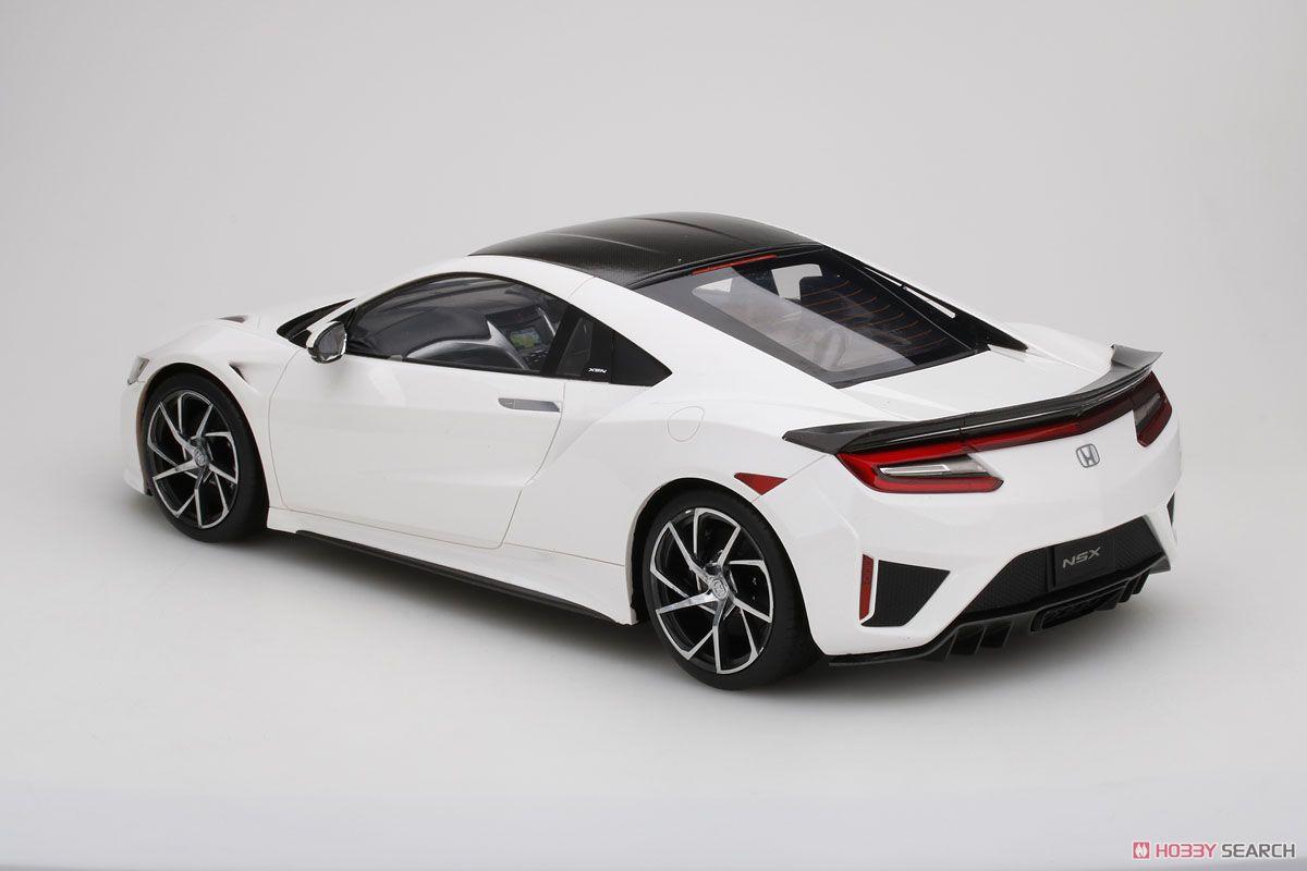ホンダ NSX 2017 130R ホワイト カーボンファイバーパッケージ (ミニカー)