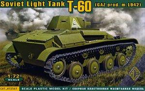 露・T-60 軽戦車 1942年型 GAZ工場製後期型 ディスク転輪 (プラモデル)