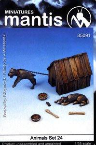動物セット24 イヌと犬小屋 (プラモデル)