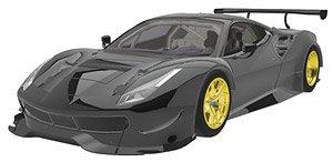 フェラーリ 488 GTE 2015 (マットブラック) (ミニカー)