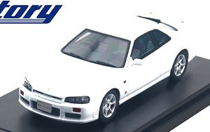 NISSAN SKYLINE 25GT TURBO (1998) ホワイト (ミニカー)