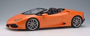 ランボルギーニ ウラカン LP610-4 スパイダー 2015 パールオレンジ/オレンジ&ブラックスポーツシート (ミニカー)