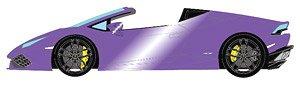 ランボルギーニ ウラカン LP610-4 スパイダー 2015 ランボ30メタリック(パープルメタリック)/ブルー&ブラックスポーツシート (ミニカー)