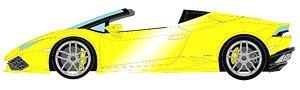 ランボルギーニ ウラカン LP610-4 スパイダー 2015 ジアロマッジオ(ブライトイエローパール)/イエロー&ブラックスポーツシート (ミニカー)