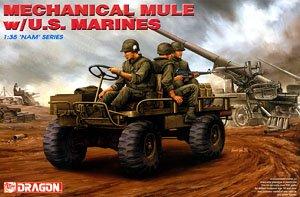 ベトナム戦争 アメリカ海兵隊 M274トラック メカニカルミュール w/海兵隊員 (プラモデル)