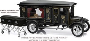Precision Collection - 1:18 1921 Ford Model T Ornate Carved Hearse - Blac (ミニカー)