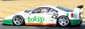 フェラーリ F40 24h ルマン 1994 (totip) ホワイト/グリーン/オレンジ (ミニカー)