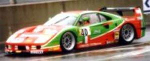 フェラーリ F40 24h ルマン1995 (Brummel #40) レッド/グリーン (ミニカー)
