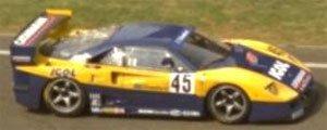 フェラーリ F40 24h ルマン1996 (Igol #45) イエロー/ブルー (ミニカー)