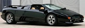 ランボルギーニ ディアブロ VT ロードスター ファーストシリーズ 1995 (ブラック) (ミニカー)